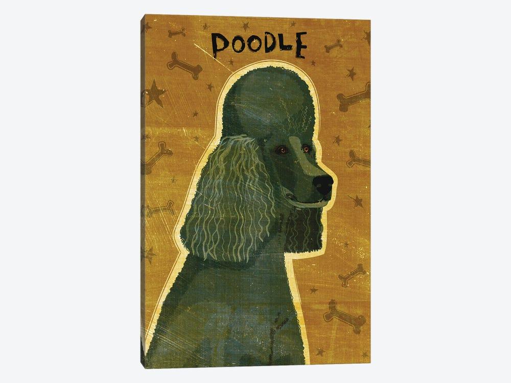 Poodle - Black by John Golden 1-piece Canvas Artwork