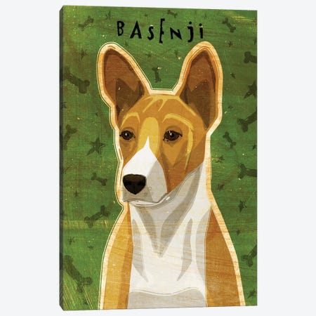 Basenji - Red 3-Piece Canvas #GOL20} by John Golden Art Print
