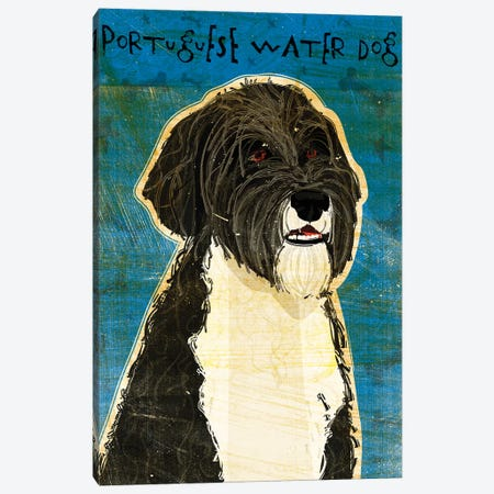 Portuguese Water Dog 3-Piece Canvas #GOL213} by John Golden Canvas Print