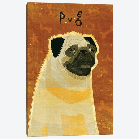 Pug - Fawn Canvas Print #GOL215} by John Golden Canvas Art