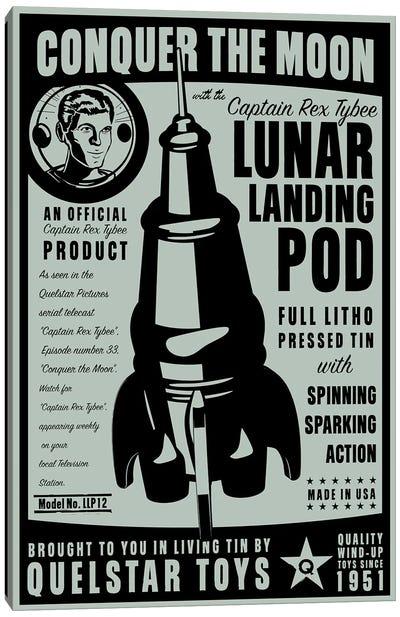 Quelstar Lunar Lander Canvas Art Print