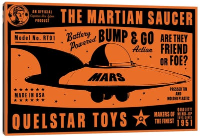 Quelstar Mars Saucer Canvas Art Print