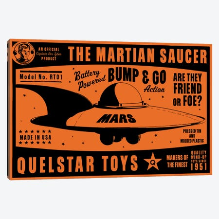 Quelstar Mars Saucer Canvas Print #GOL218} by John Golden Canvas Print