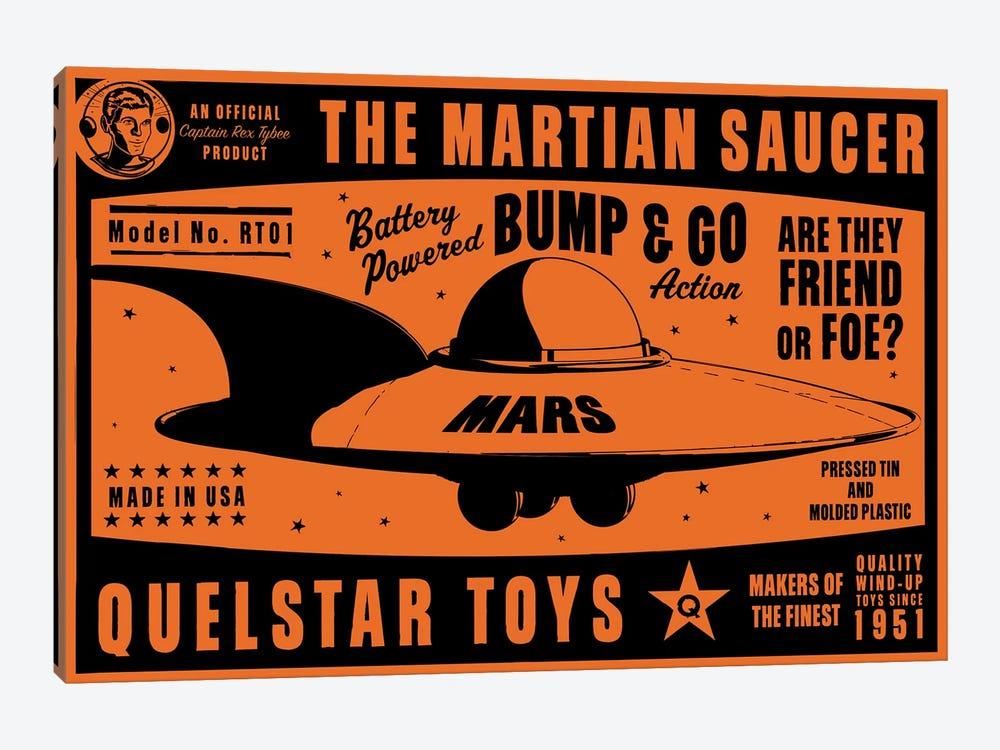 Quelstar Mars Saucer by John Golden 1-piece Art Print