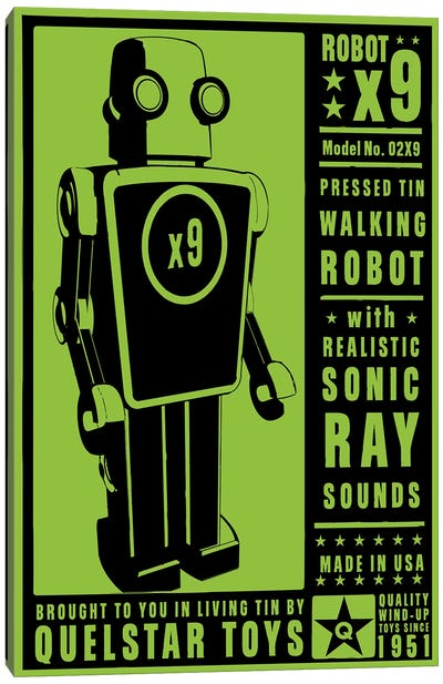 Quelstar X9 Tin Toy Robot Canvas Art Print