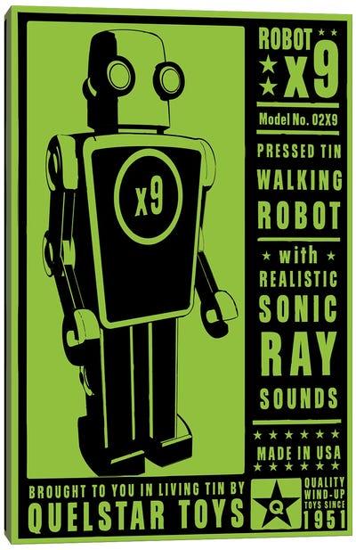 Quelstar X9 Tin Toy Robot Canvas Art Print
