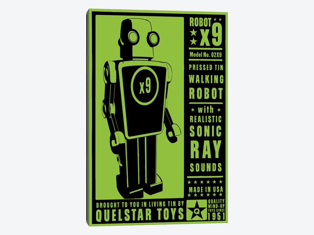 Quelstar X9 Tin Toy Robot 1-piece Canvas Wall Art