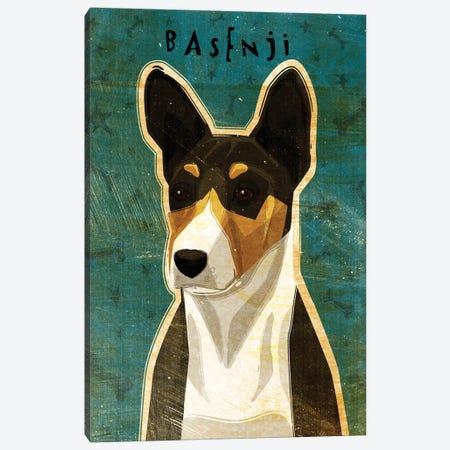 Basenji - Tri-Color Canvas Print #GOL21} by John Golden Canvas Print