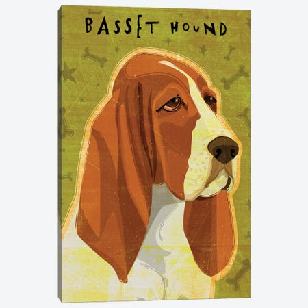 Basset Hound Canvas Print #GOL22} by John Golden Canvas Art Print