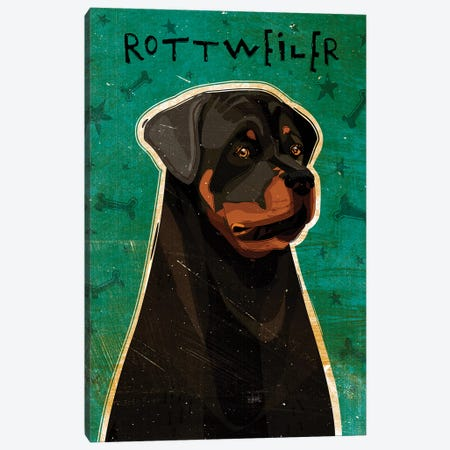 Rottweiler Canvas Print #GOL230} by John Golden Canvas Art Print