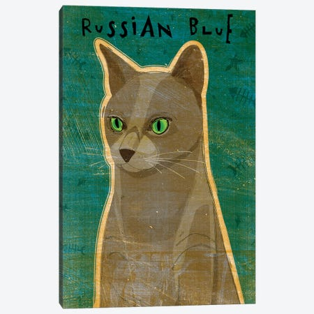 Russian Blue 3-Piece Canvas #GOL231} by John Golden Art Print