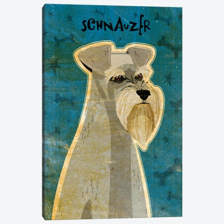 Schnauzer Canvas Print #GOL234} by John Golden Canvas Art