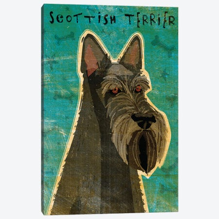 Scottish Terrier Canvas Print #GOL235} by John Golden Canvas Art