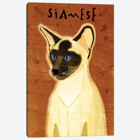 Siamese Canvas Print #GOL247} by John Golden Canvas Print