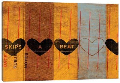 Skips A Beat Canvas Art Print