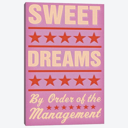 Sweet Dreams - Pink Canvas Print #GOL262} by John Golden Canvas Art