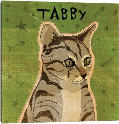 Tabby - Grey Canvas Art Print