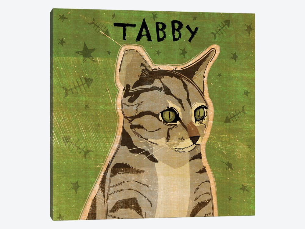 Tabby - Grey by John Golden 1-piece Canvas Wall Art
