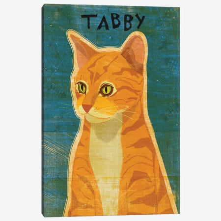 Tabby - Orange 3-Piece Canvas #GOL265} by John Golden Art Print