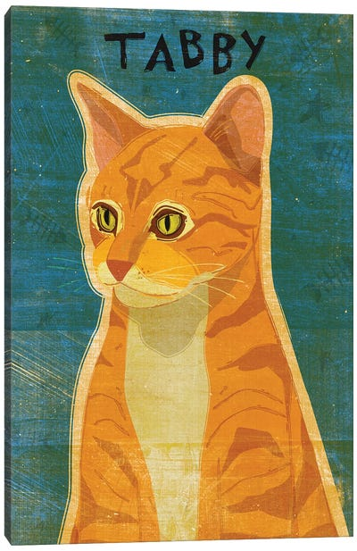 Tabby - Orange Canvas Art Print