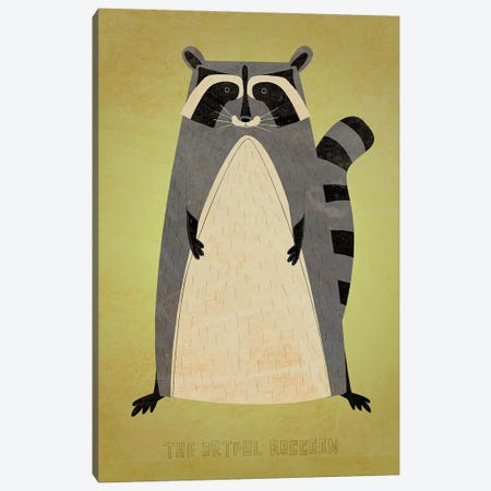 The Artful Raccoon Canvas Print #GOL267} by John Golden Canvas Print