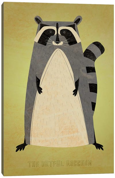 The Artful Raccoon Canvas Art Print