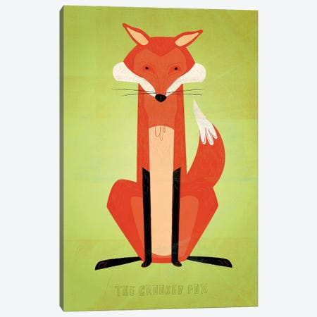 The Crooked Fox Canvas Print #GOL268} by John Golden Canvas Art