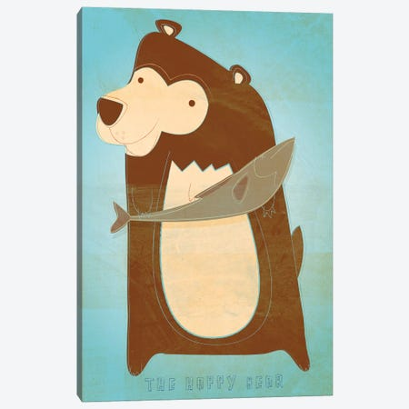 The Happy Bear Canvas Print #GOL269} by John Golden Canvas Art