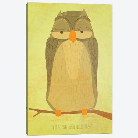 The Sensible Owl Canvas Print #GOL273} by John Golden Art Print