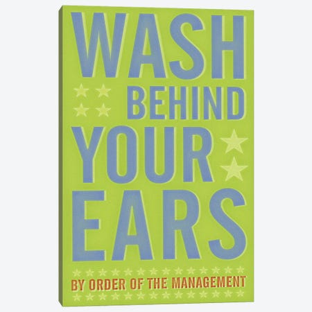 Wash Behind Your Ears 3-Piece Canvas #GOL282} by John Golden Canvas Wall Art