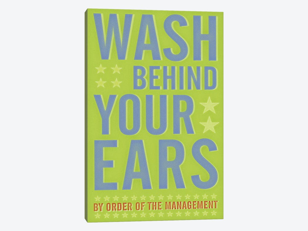 Wash Behind Your Ears by John Golden 1-piece Canvas Artwork