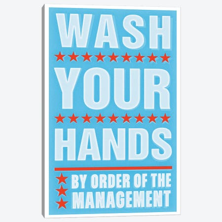 Wash Your Hands Canvas Print #GOL283} by John Golden Canvas Artwork