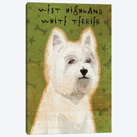 West Highland White Terrier Canvas Print #GOL286} by John Golden Art Print