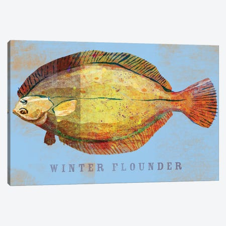 Winter Flounder Canvas Print #GOL290} by John Golden Art Print