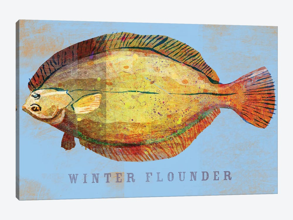 Winter Flounder by John Golden 1-piece Canvas Art Print