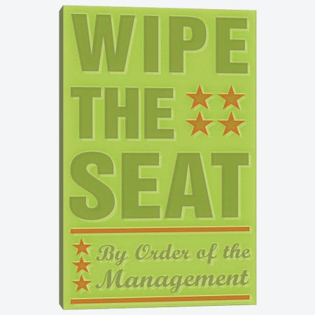 Wipe The Seat Canvas Print #GOL291} by John Golden Canvas Print
