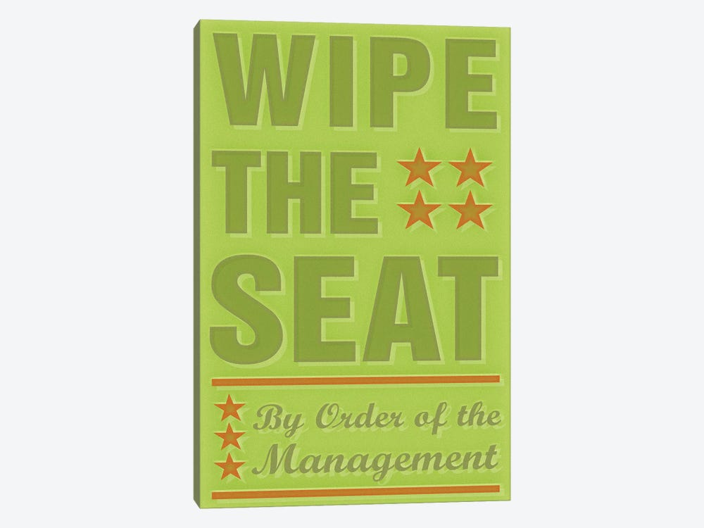 Wipe The Seat by John Golden 1-piece Canvas Artwork