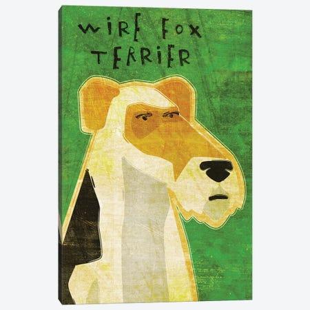 Wire Fox Terrier Canvas Print #GOL293} by John Golden Canvas Print