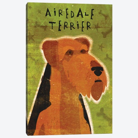 Airedale Terrier Canvas Print #GOL2} by John Golden Art Print