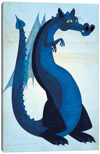 Blue Dragon Canvas Art Print