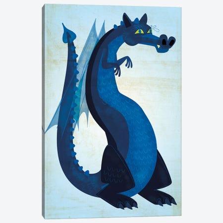 Blue Dragon Canvas Print #GOL30} by John Golden Canvas Wall Art