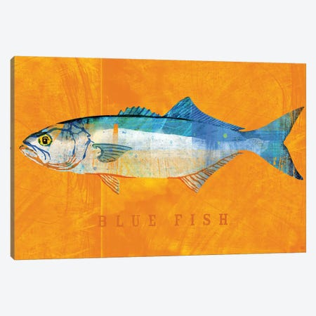 Blue Fish Canvas Print #GOL31} by John Golden Canvas Art
