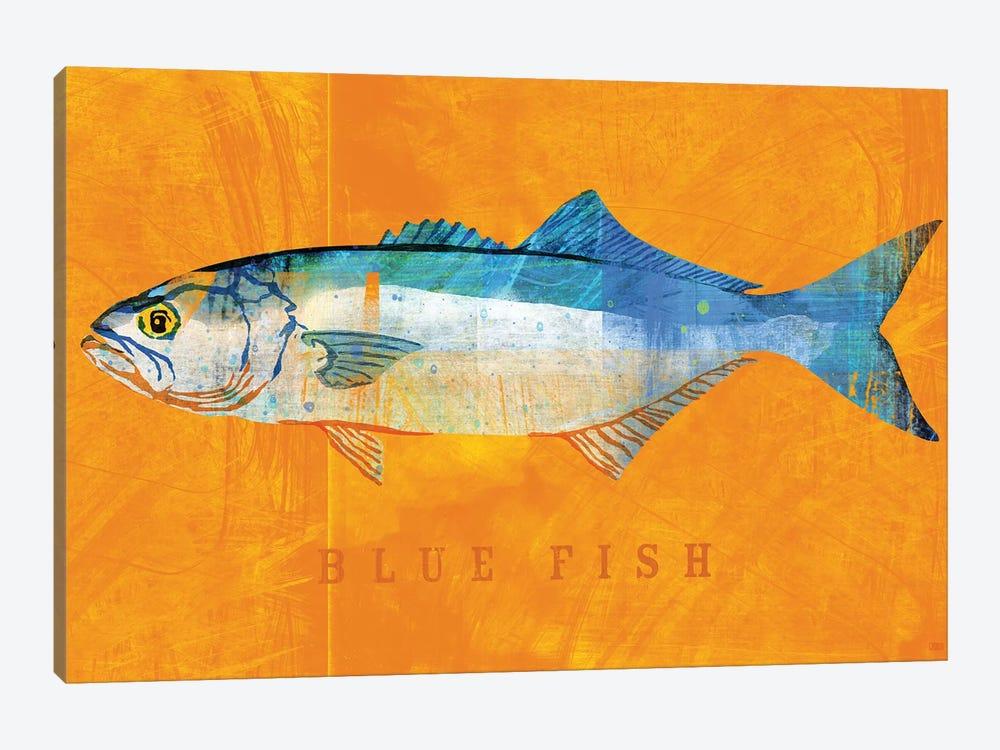 Blue Fish by John Golden 1-piece Canvas Wall Art