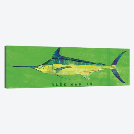 Blue Marlin Canvas Print #GOL32} by John Golden Canvas Artwork