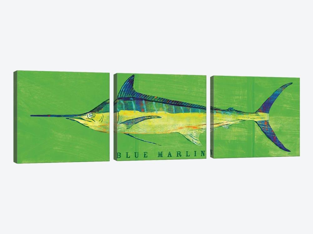 Blue Marlin by John Golden 3-piece Canvas Art Print