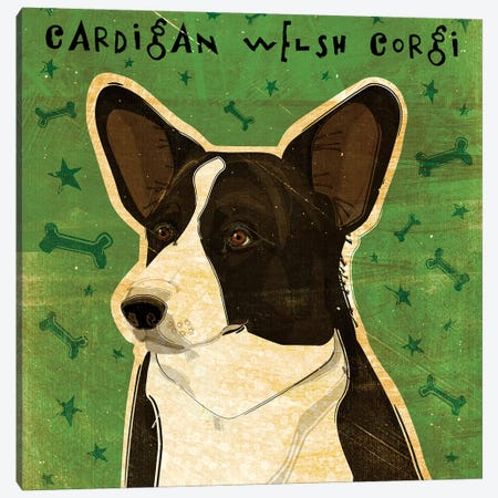 Cardigan Welsh Corgi Canvas Print #GOL48} by John Golden Canvas Art Print
