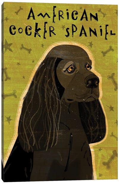American Cocker Spaniel - Black Canvas Art Print