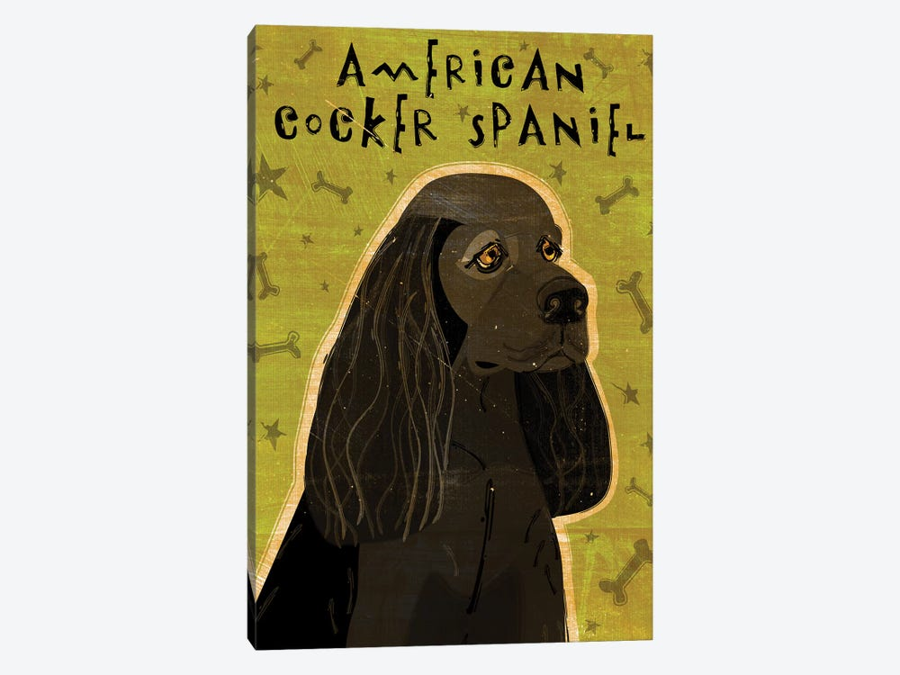 American Cocker Spaniel - Black by John Golden 1-piece Canvas Print