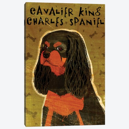 Cavalier King Charles - Black & Tan Canvas Print #GOL50} by John Golden Canvas Art