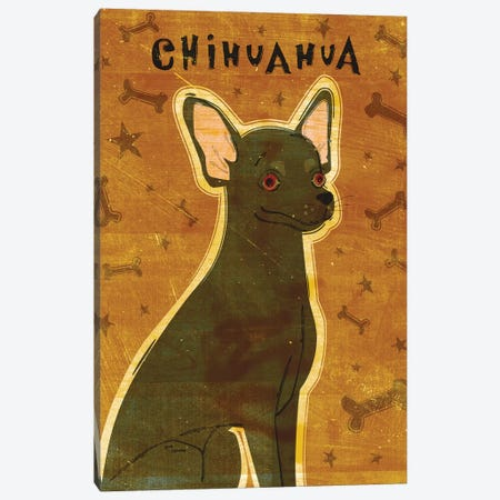 Chihuahua - Black 3-Piece Canvas #GOL54} by John Golden Art Print